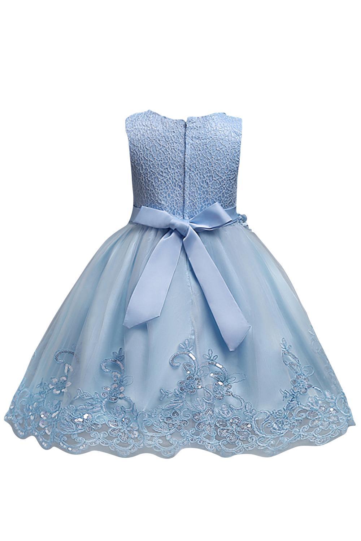wedding girl dress Birthday Girl Dress Party Girl Dress Flower girl Dress Light Blue Flower Girl Dress Christmas girl dress