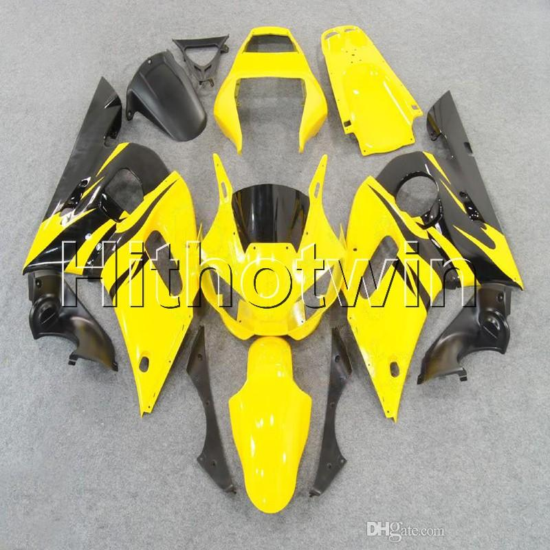 23colors+8Gifts yellow bodywork motorcycle cowl for Yamaha YZFR6 1998 1999 2000 2001 2002 YZF-R6 ABS Plastic Fairing