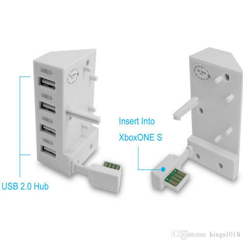 new arrival High Speed Console Extend HUB USB Adapter 4 Ports USB For XBox One S X-box one S Game Accessories 4-in-1