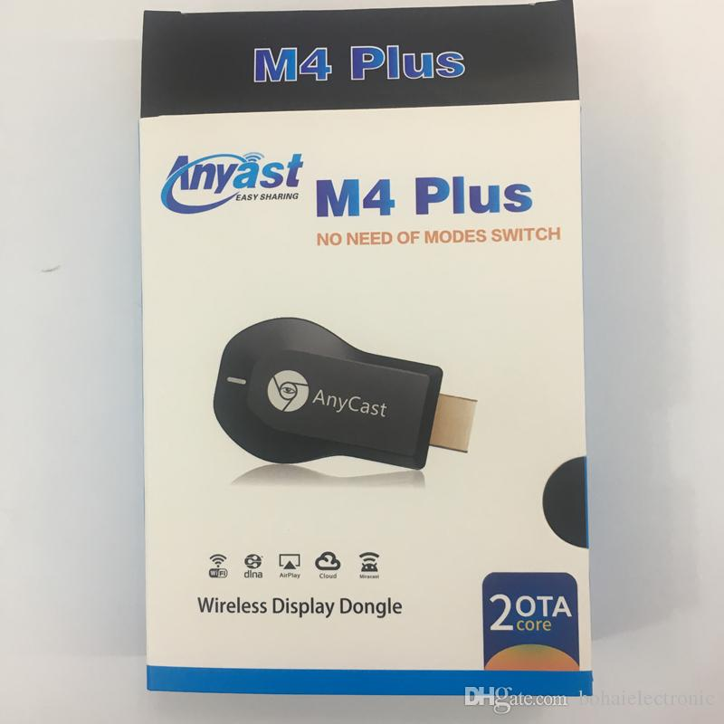 New Product Anycast M4 Plus Wiress Display Dongle Wireless Hd Push Network  Player M4PLUS Supports IOS11 Rca To Vga Converter Box Universal Remote Tv
