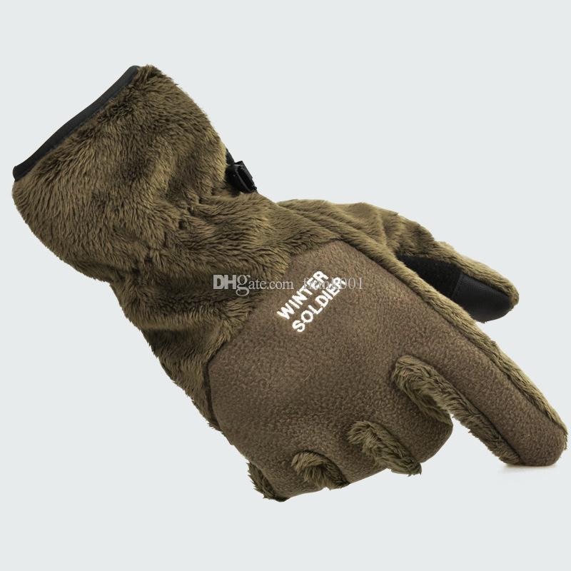 야외 하이킹 양털 장갑 남성과 여성 방풍 따뜻한 양털 장갑 겨울 통기성 터치 스크린 장갑 무료 배송