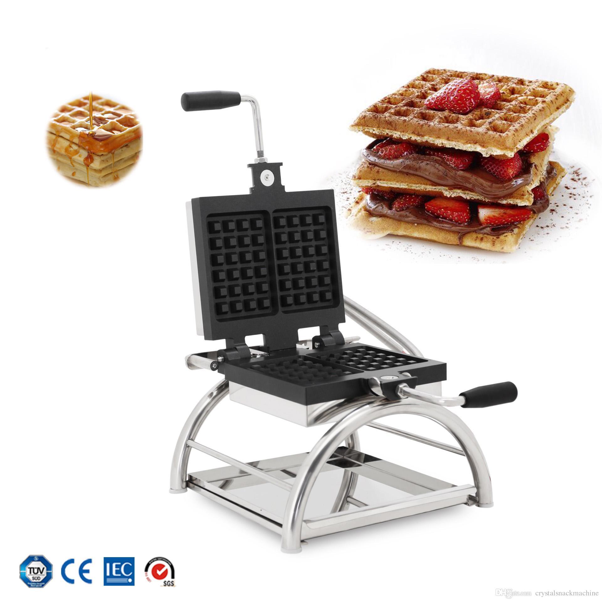 Nouvelle machine à gâteaux de la machine de gaufre rotative Deux Machine de gaufre de muffin carrée Machine à pain électrique