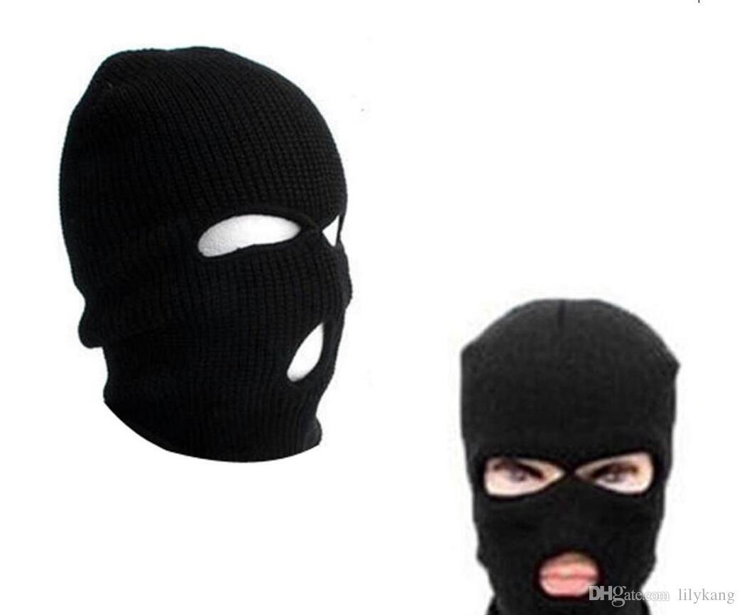 warme Balaclava Hüte im Freien Radfahren Sport Vollmasken Caps Bedecken cosplayen Terror Masken Erwachsene Mens Frauen Knit Sport Beanie Mütze