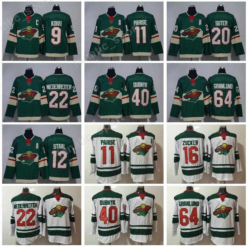2021 Minnesota Wild 16 Jason Zucker Jersey White Green 12 Eric ...