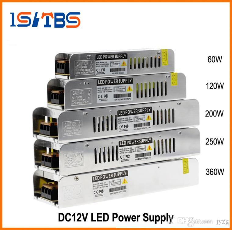 LED Güç Kaynağı DC12V 60 W 120 W 200 W 250 W 360 W LED Sürücü Güç Adaptörü Aydınlatma Transformers Aydınlatma Aksesuarları