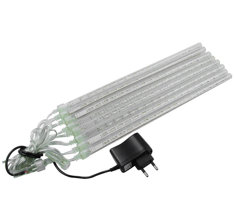 1set Christmas Waterproof LED Meteor Shower Rain Lights 20cm 30cm 8 Tubes 100V 240V Light with EU US Power Adapter