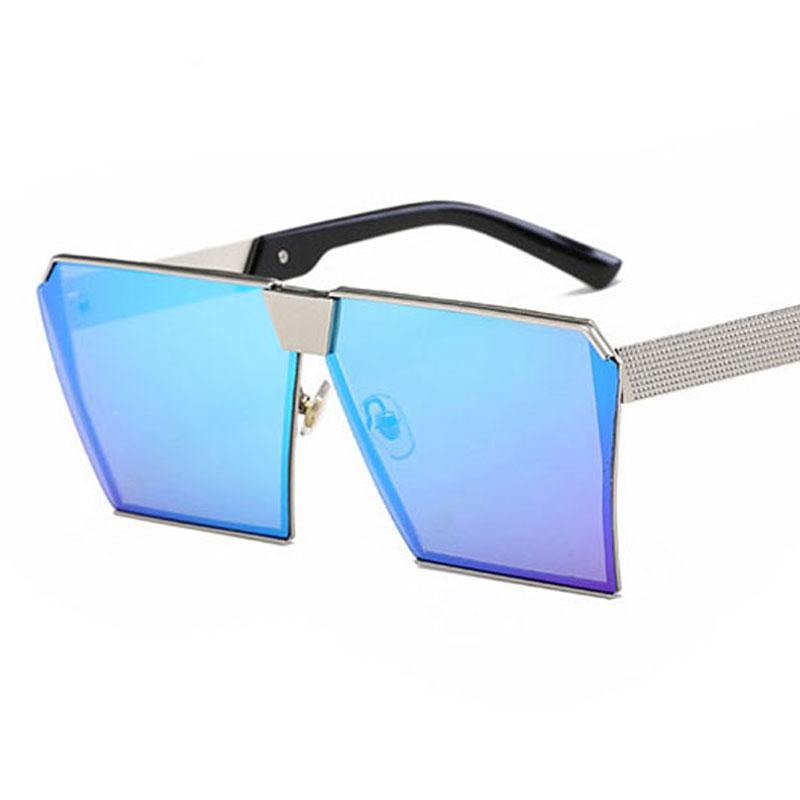 2020 nuovo arrivo degli occhiali da sole donne Men Square oversize occhiali UV400 Gradient Vintage nuovo progettista occhiali montature a giorno in vetro UV400