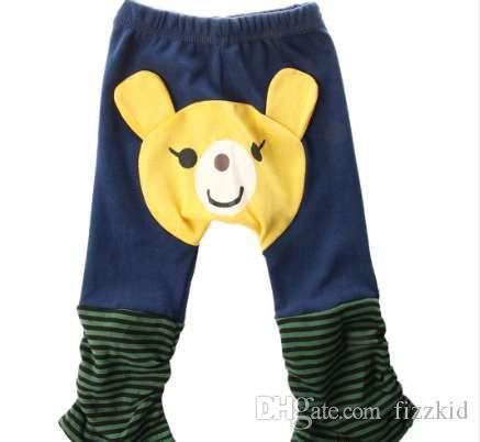 дети дети мальчики брюки девушки леггинсы мультфильм повседневная одежда медведь животных детские теплые брюки унисекс