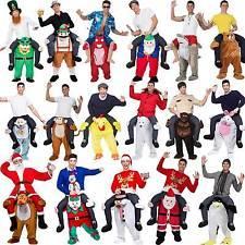 40 видов новизны езды на меня Mascot костюмы Носите брюки Вернуться Смешной Animal Fancy Dress Up Октоберфест Halloween Party