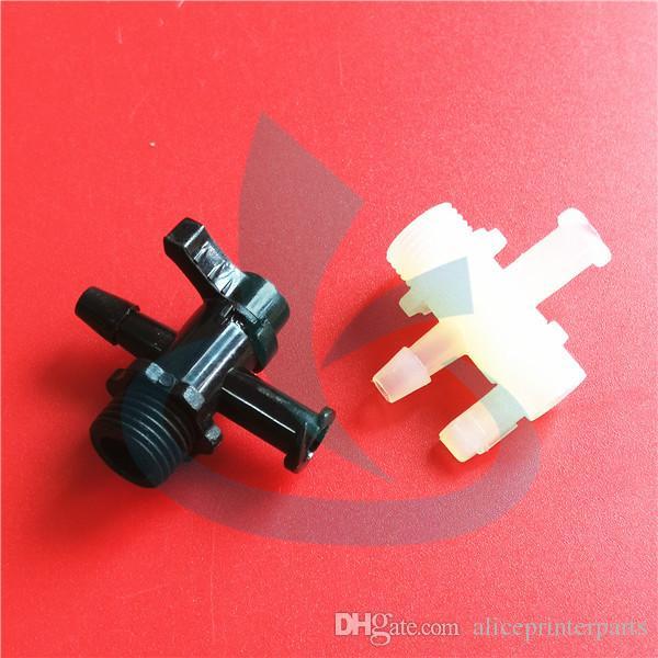 30pcs precio increíble !!! Plana UV máquina plotter plástico UV manual de la válvula de tinta flora LJ3208K LJ320K manguera de tinta válvula de control de tubo