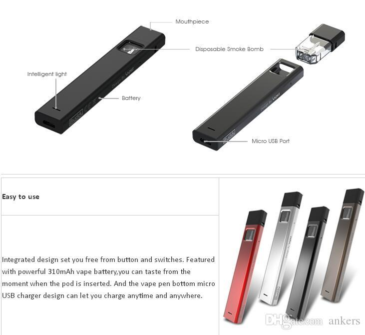 free vape mods integrated design ibuddy Bpod 1ml clear pods tank with 310mah vaporizer battery 2018 new product launch in China