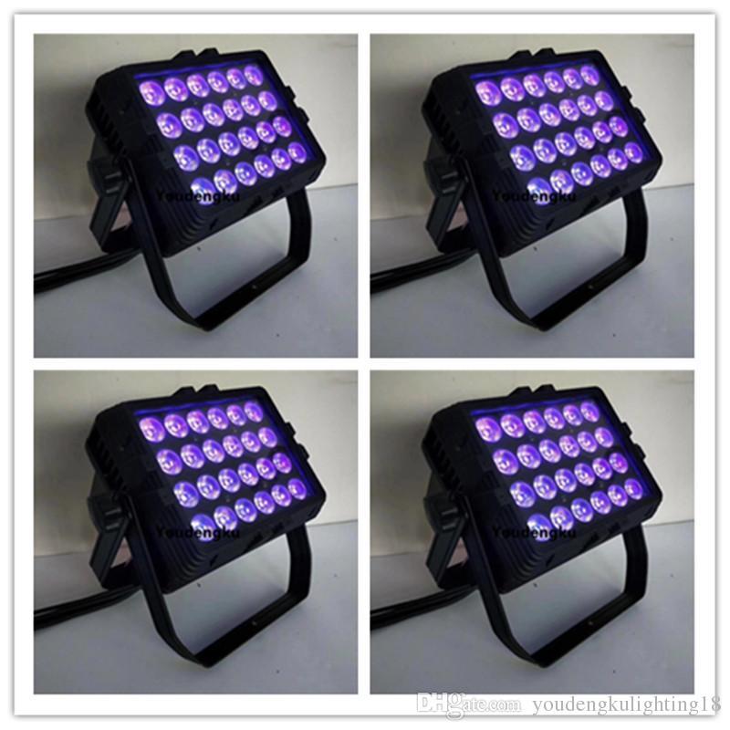 4 parti esterne led wall washer luce 24pcs 18w RGBWAUV 6in1 esterno impermeabile luce rondella a muro LED City Color
