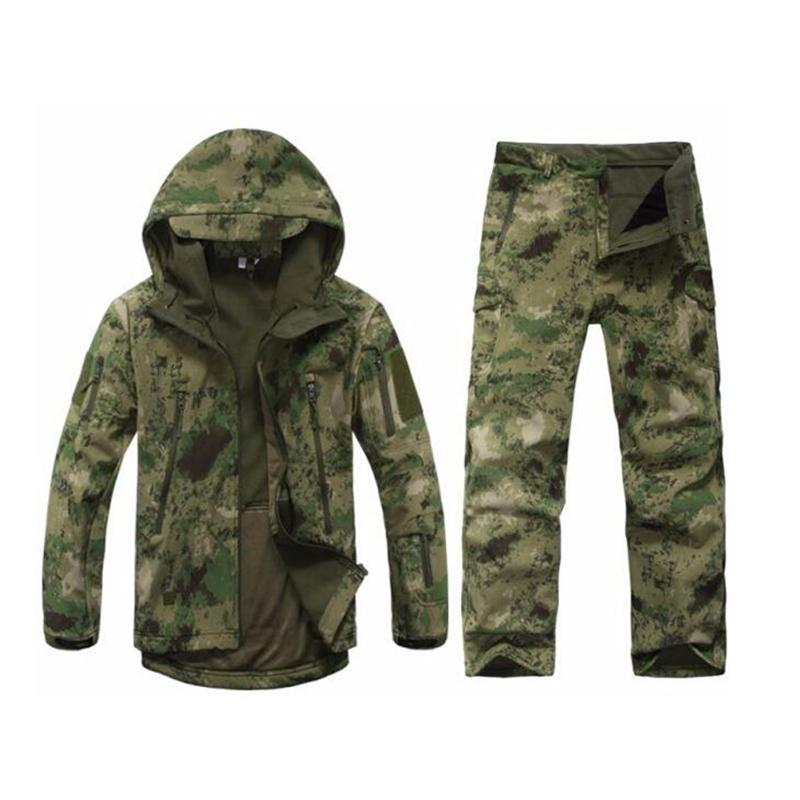 Men Outdoor Waterproof Jackets TAD V 5.0 XS Softshell hunting outfit thermal clothes Tactical Camping hiking breath Sport Suit Free Shipping