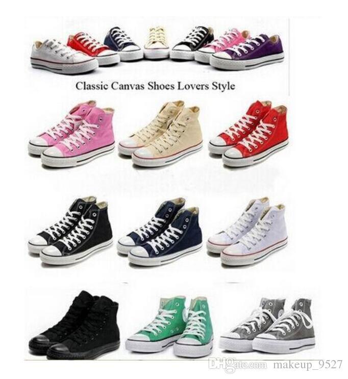 شحن مجاني جميع الحجم 35-45 الرجال النساء أحذية منخفضة نمط قماش clasic عارضة أحذية للنساء ، أحذية المجلس