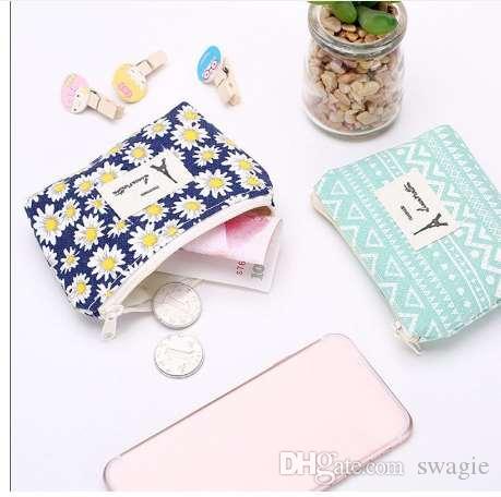 Портмоне женщины свежие цветочные и кисточкой портмоне бумажник мешок изменения сумка для ключей Monederos Mujer Monedas
