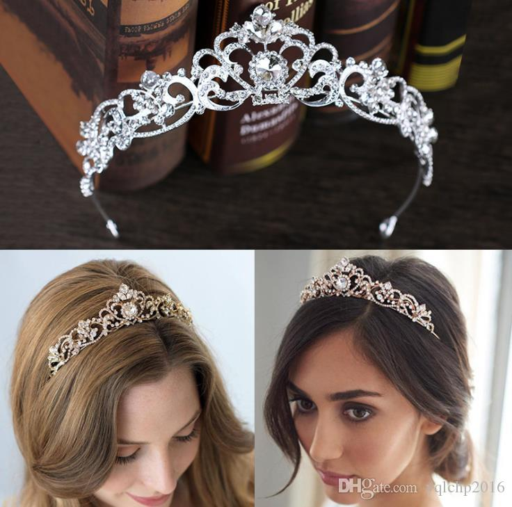 Diamond crown bridal headwear, rose gold crown, hair ornament, bridal ornaments