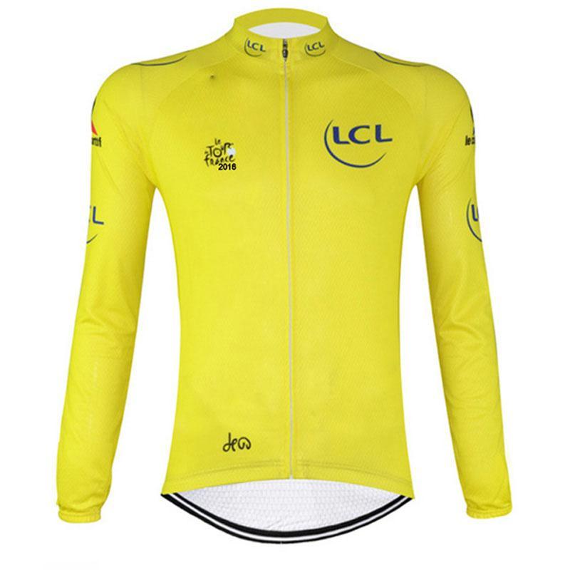 2019 TUR DE FRANSA takım Bisiklet uzun Kollu jersey açık Bahar Sonbahar Yarış Bisikleti Giyim Ropa Ciclismo Hombre Üniforma U91036