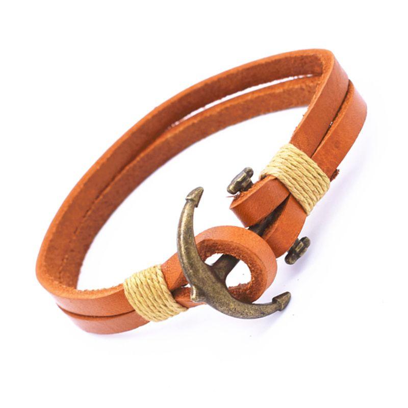 1 Pieces Men Jewelry Pirate Style Bracelets Cuff Wrap Bracelet