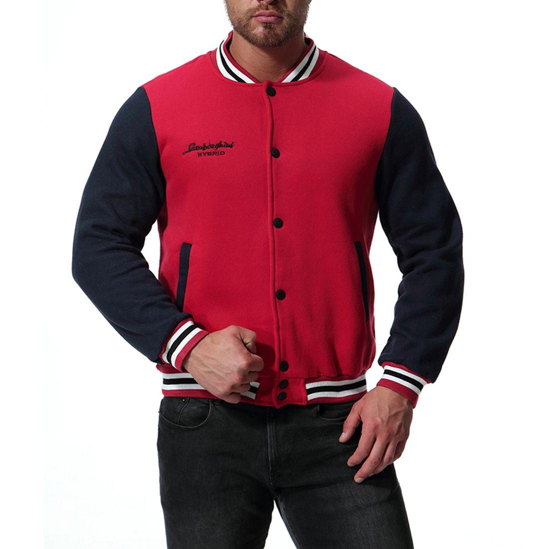 Fleece College Jacket Hommes Vestes Classic Red Mode Varsity Hommes Femmes Automne 2XL Homme J181040 Veste Baseball Mensball Mens Bomber NQSKP