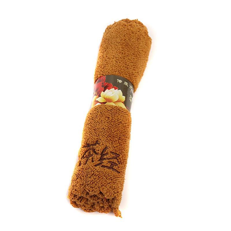 4 colores de bajo precio toallas de té de algodón superfino juego de té absorbente fuerte kung fu de alto grado servilletas de té