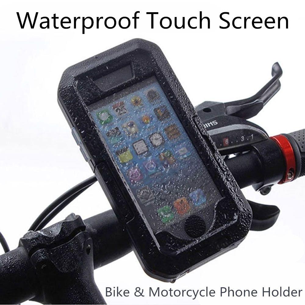 Soporte para teléfono móvil soporte para teléfono móvil para bicicleta al aire libre bicicleta para bicicleta x 8 7 6 6 s más 5s gps caso de pantalla táctil a prueba de agua