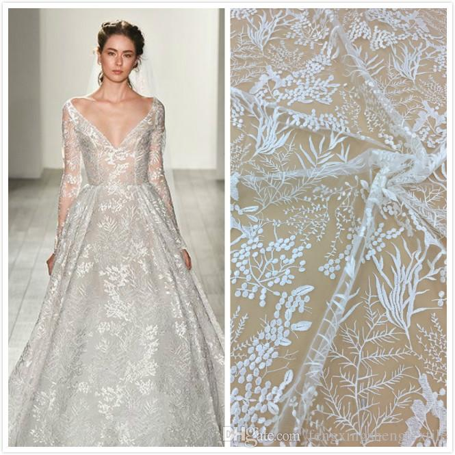 Hot sale European and American style tulle lace fabrics for wedding material french embroidery swiss laces Africa high quality net lace
