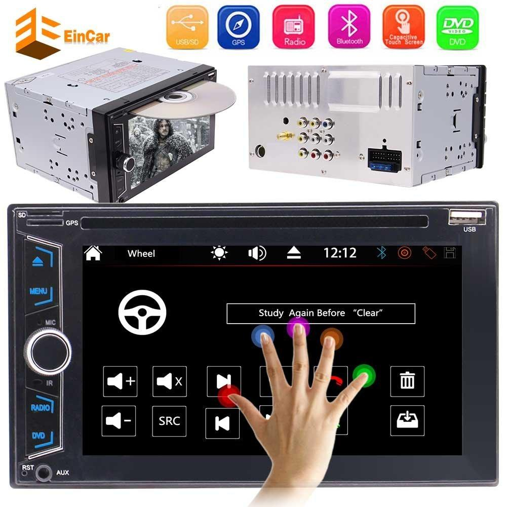 WINCE 8.0 Double 2DIN Car headunit Electronics car DVD CD 1080P Video music Player Bluetooth center console GPS Navigation Stereo Radio PC