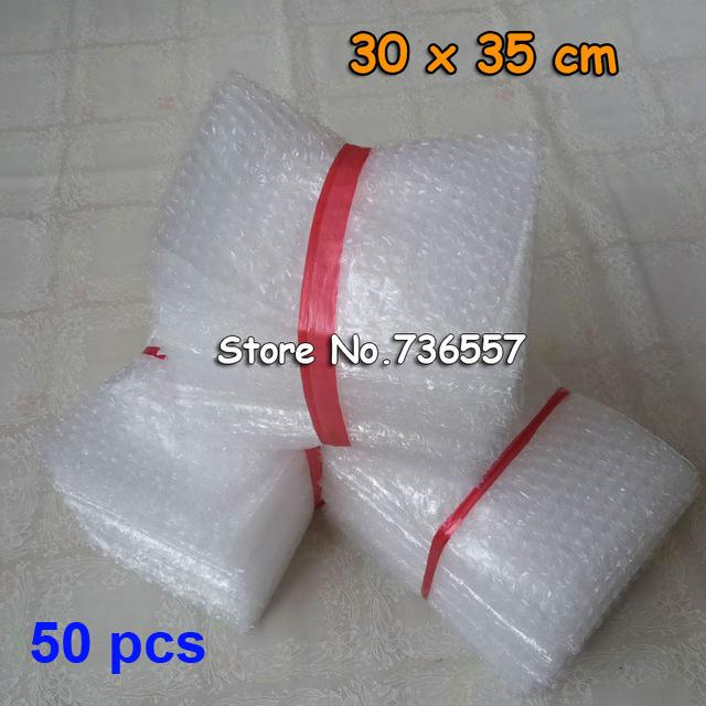 Новый пузырь сумки 30*35 см прозрачный Paded конверты обернуть мешки мешки упаковка PE почтовик упаковка воздушный пузырь мешок