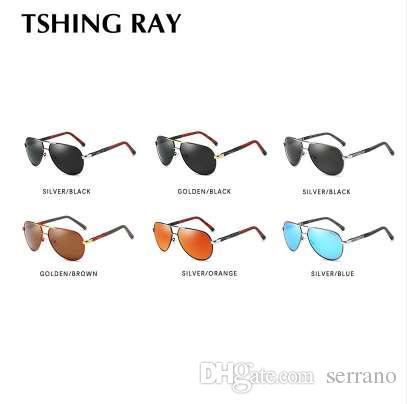 Espelho tshing para óculos de sol polarizado Ray revestimento de direção homens óculos masculinos homens aviação sol óculos de sol UV400 XOACV