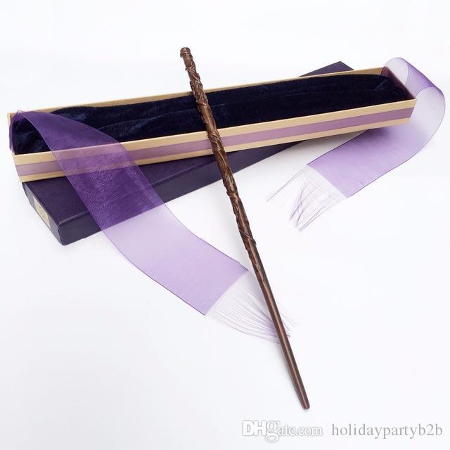 Colsplay nouvelle arrivée métal / noyau de fer Hermione Granger baguette magique / baguette magique magique Harry Potter / emballage de ruban élégant