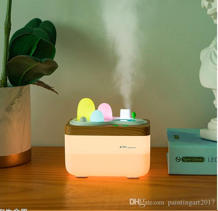Land-Art-Haushalts-Ultraschallaroma-Diffusor-Luftbefeuchter Reizender kleiner Nebel-ätherisches Öl-Diffusor-bunte Nachtlicht-Nebel-Hersteller