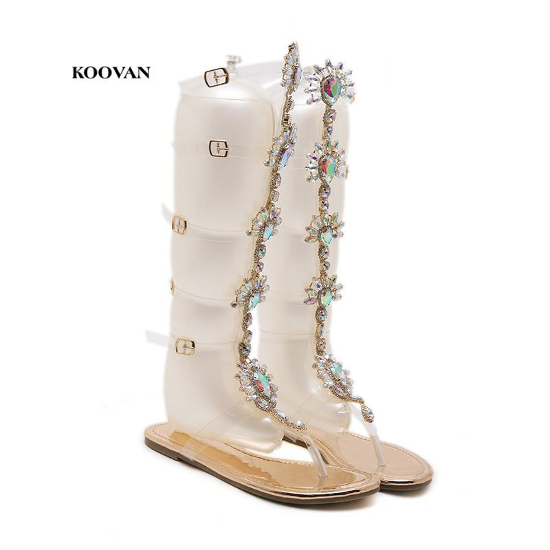 skilful manufacture new various design Koovan Women'S Sandals Diamond Sandals Female 2018 Summer New Posey High  Toe Cool Boots With Toe Clip For Women'S Shoes In Rome High Heels Heels  From ...