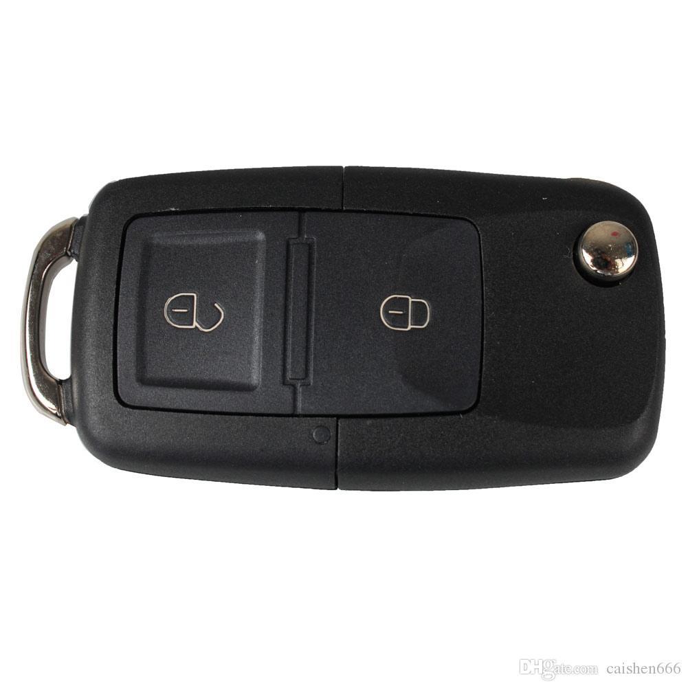 2 кнопки Fob складной замена дистанционного ключа чехол для автомобиля VW BORA Golf MK4 Passat Jetta
