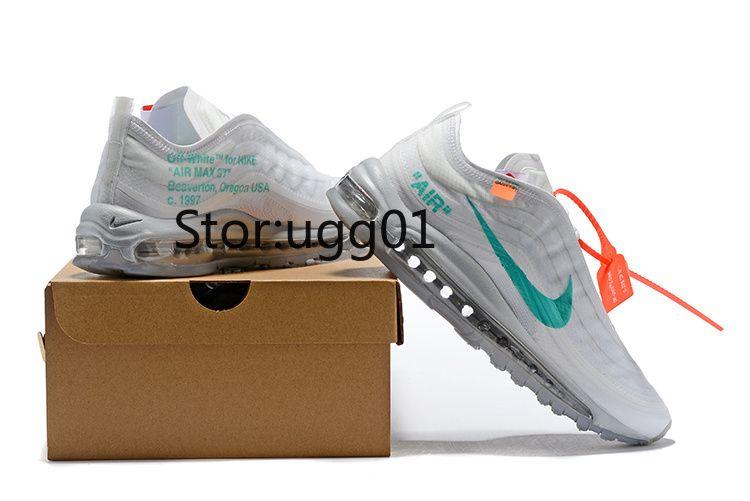 Compre Off White X Nike Air Maxes 95 97 270 Menta Zapatillas De Running Para Hombre Y Mujer Zapatillas Bajas De Puma LV Gucci Balenciaga Designer