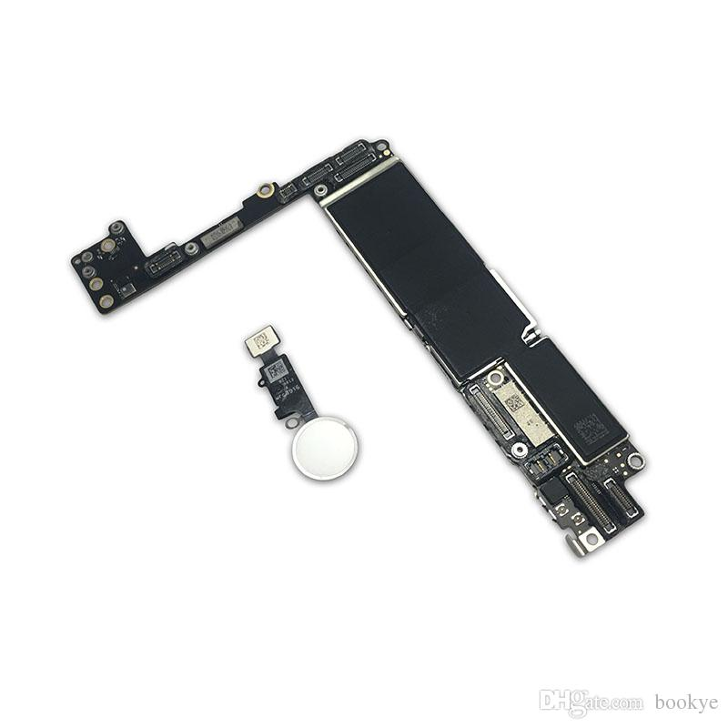 For IPhone 7 Plus 128G Motherboard With Touch ID & Fingerprint,Original  Unlocked Logic Board Parts Of A Mobile Phone Phone Lcd Repair From Bookye,