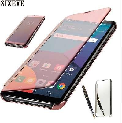 SIXEVE Флип Чехол для мобильного телефона для Samsung Galaxy J2 Prime SM-G532F Роскошный силиконовый мягкий акриловый Smatr View Mirror 360 Full Cover