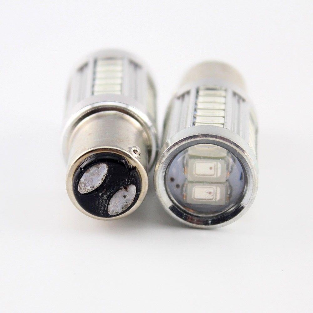4Pcs 1157 P21 / 5W BAY15D Super Bright 33 SMD 5630 5730 LED feux de freinage automatique lampe de brouillard 21 / 5w voiture feux diurnes stop ampoules