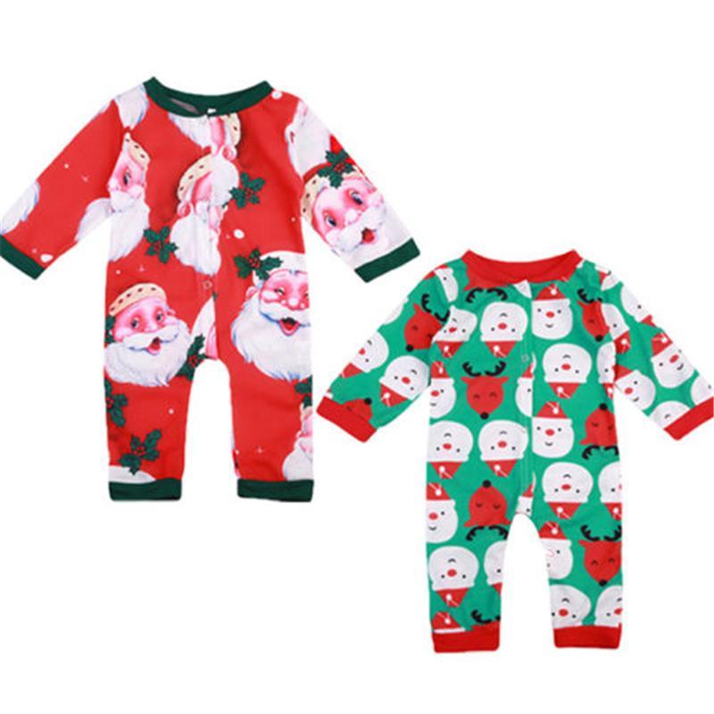 Bambino Unisex Santa Pagliaccetto Natale Baby Boy Girl Natale Autunno Tuta Neonato Manica Lunga Pagliaccetto 2017 Nuovo Vestito Del Corpo Per I Neonati Y18102907