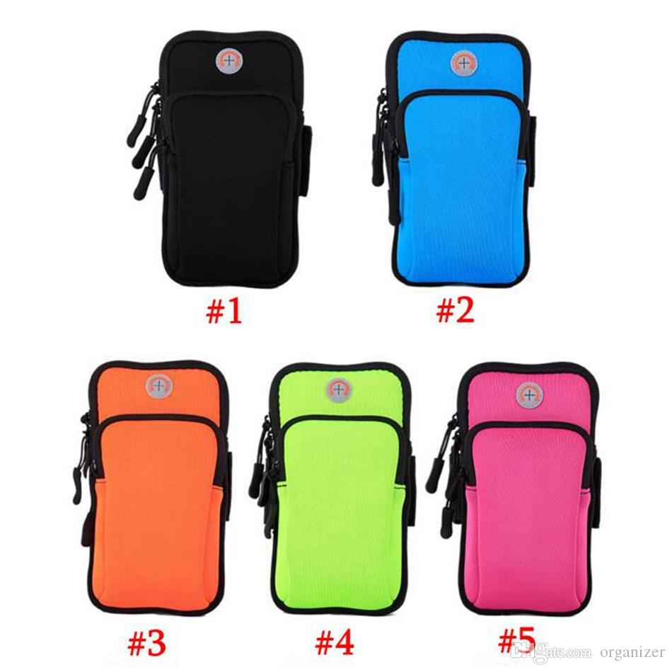 Gym Running Jogging Sports Wallet Pouch Waterproof Armband Case For Cell Phone Outdoor Arm Bag 5 Colors 100pcs
