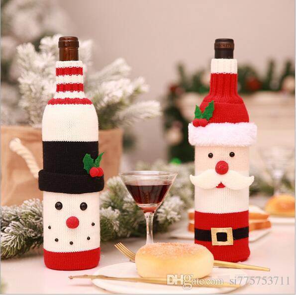 Christmas decoration wine bottle set champagne red wine creative wine set hotel restaurant holiday layout