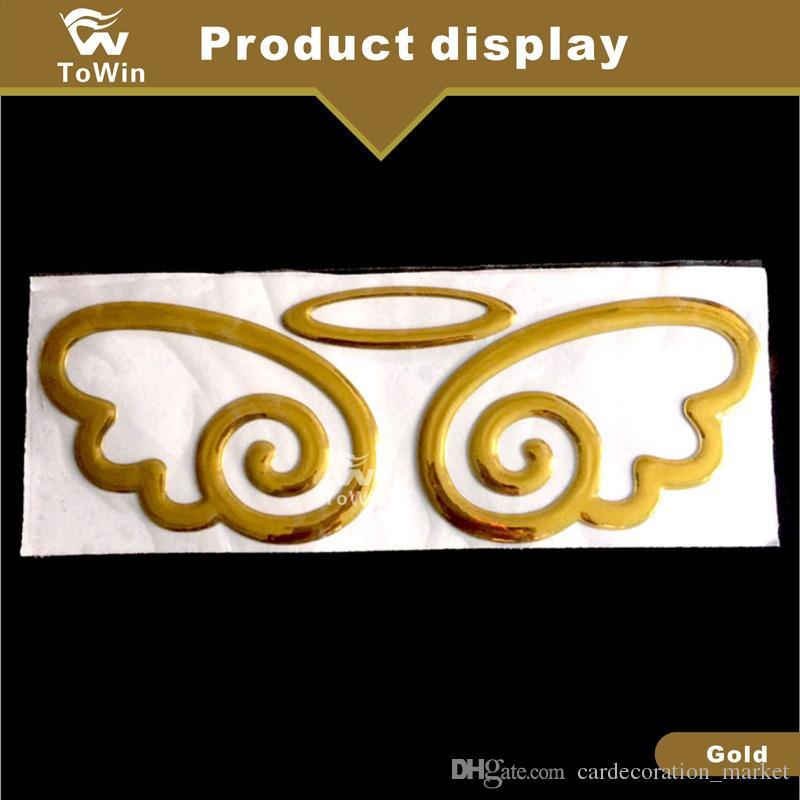 Asas de anjo Universal Styling Car Trunk Emblema Emblema Auto Exterior Elegante 3D Decoração Etiqueta para Qualquer Carros.