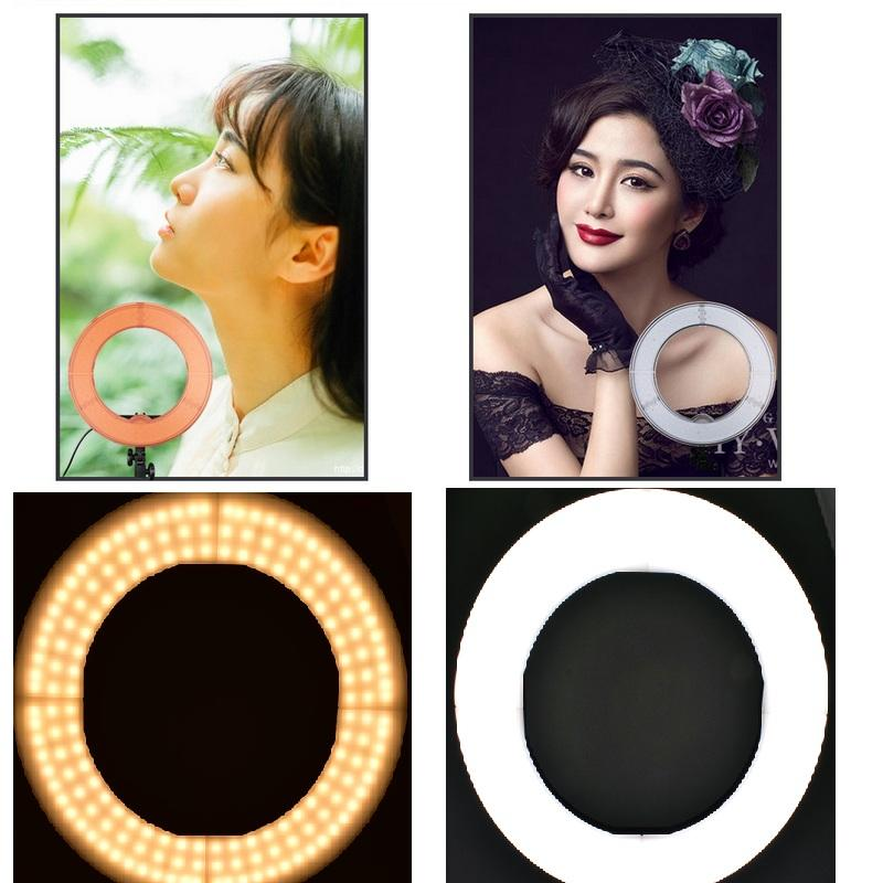 "Lightdow 12"" Dimmable Dual Color Temperature 65W 2700-5500K AC Powered 336pcs of LED Ring Light with Bag for Photo/Video/Vlog/Interview Ligh"