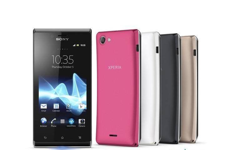 "2016 Sony Ericsson Xperia J ST26i ST26 Cep telefonu GPS Wi-Fi 5MP 4.0 ""TFT Kapasitif Dokunmatik Android OS EMS / DHL Ücretsiz kargo"