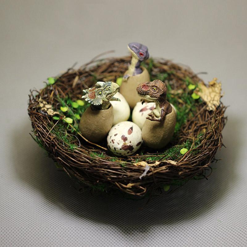 Yeni ~ Dinozor yumurta yuvaları / peri bahçe gnome / moss teraryum ev dekor / zanaat / bonsai / minyatürler hayvanlar / heykelcik / diy malzemeleri