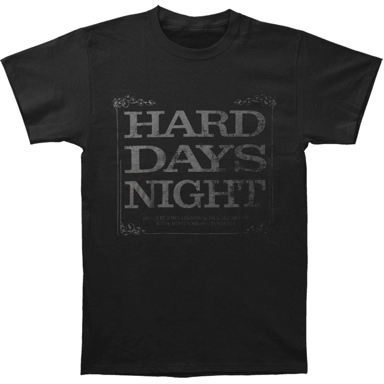 T-shirt da uomo Hard Days Night di Beatles X-Large nera