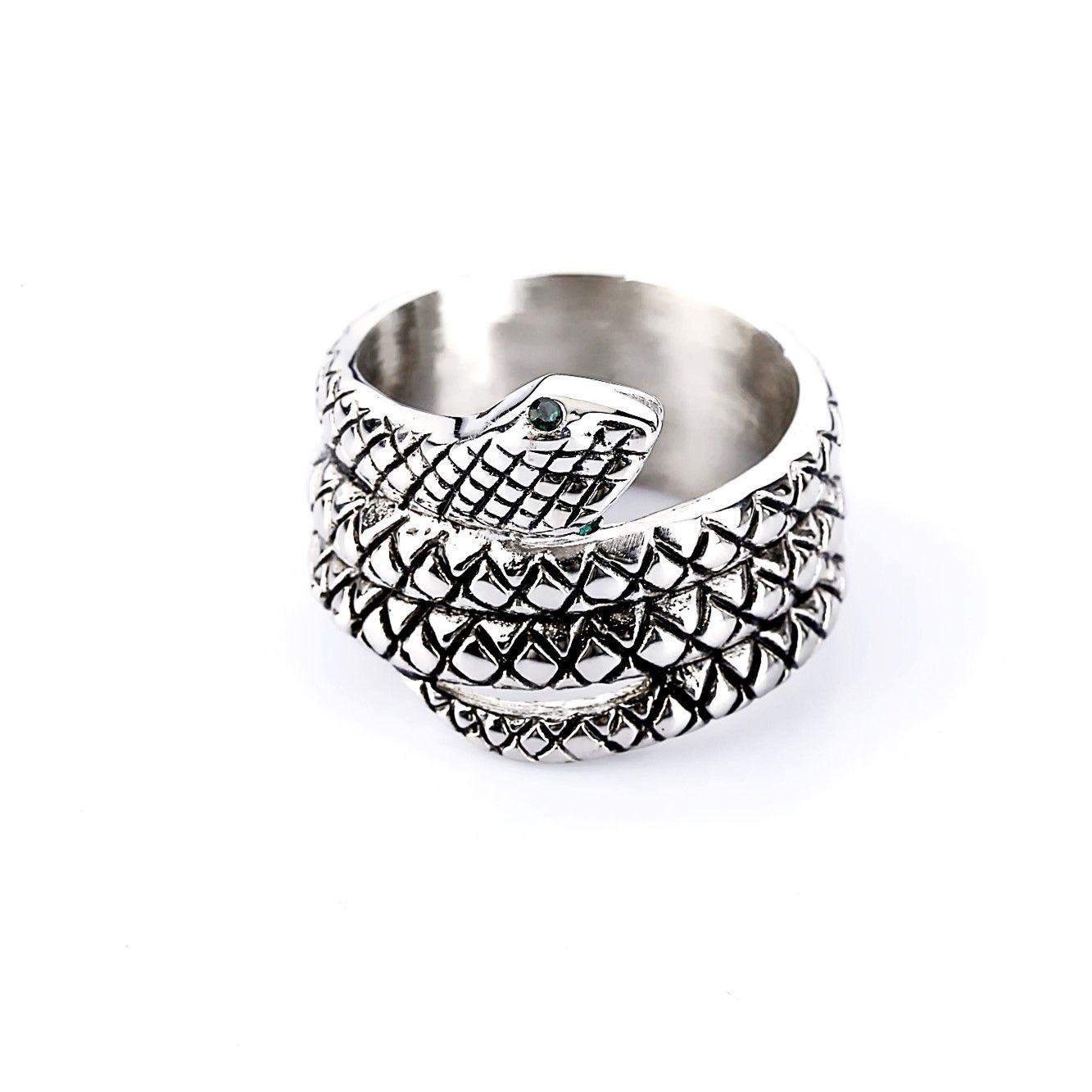 Новый персональный дизайн Penis Ring Glans Ring Стиль змеиной головы Металл Мужское целомудренное устройство Мужское кольцо Кобры