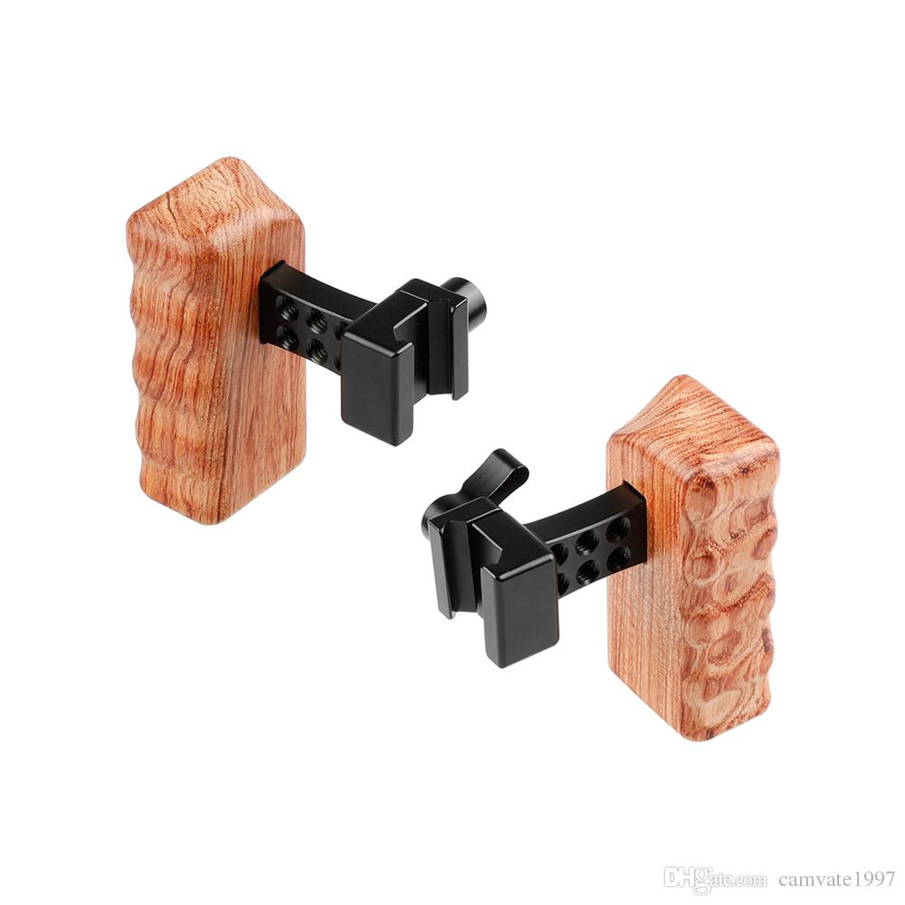 CAMVATE DSLR Wood Wooden Handle Grip (Left & Right)