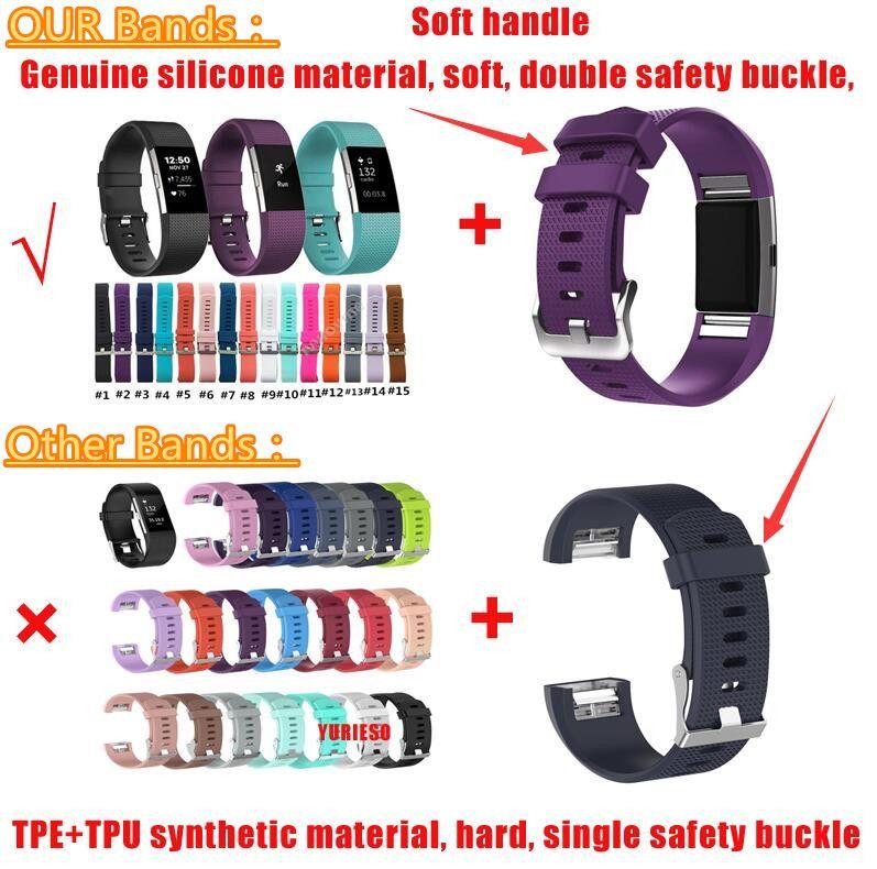 Самая низкая цена для Fitbit Charge 2 Heart Rate Smart Wristband браслет носимых ремень Ремень для Fitbit Charge 2 силиконовые замена группы
