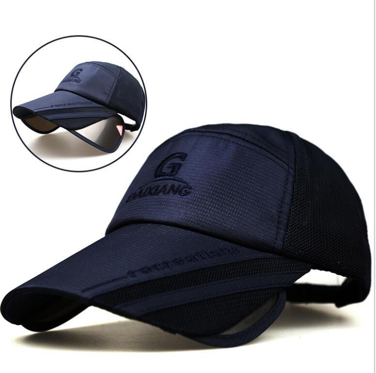 Men Women Summer Snapback Quick Dry Mesh Baseball Cap Sun Hat Bone Breathable Hats