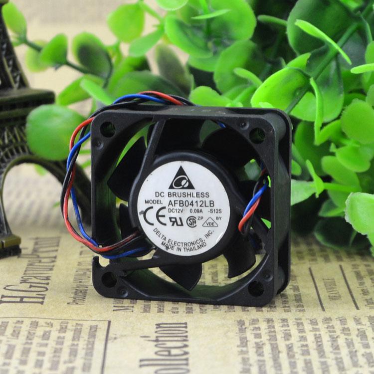 Para original Delta 4015 12V 0.09A Ventilador pequeño silencioso de doble bola de 3 hilos AFB0412LB-S12S